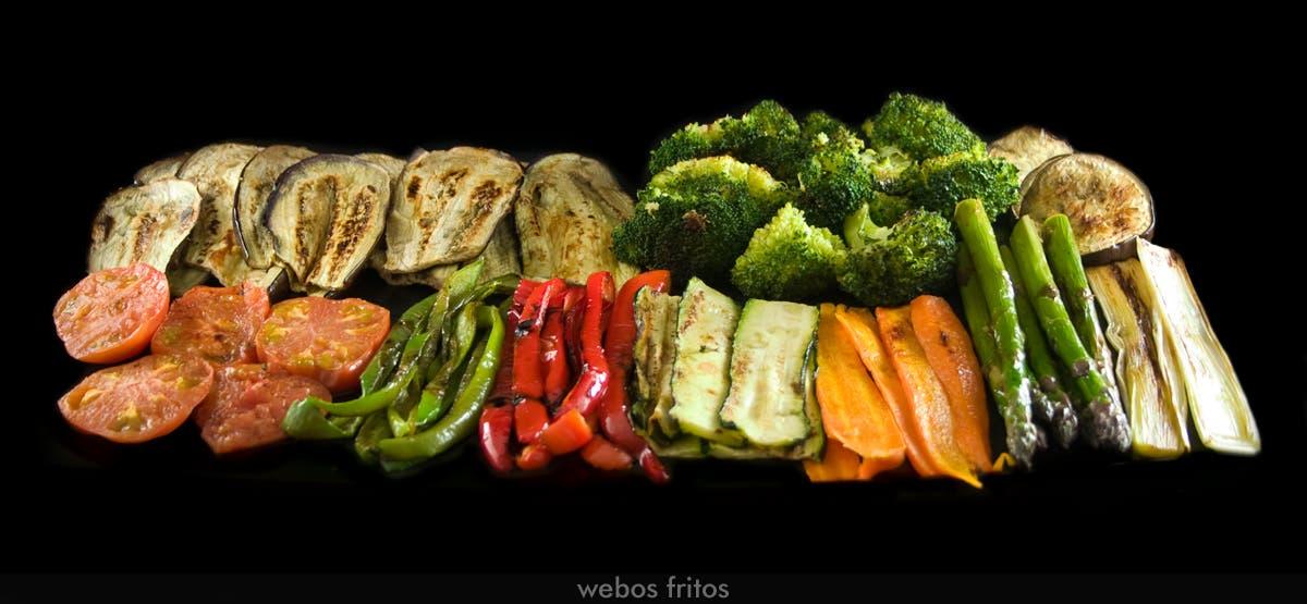 Verduras a la plancha webos fritos for Parrillada verduras