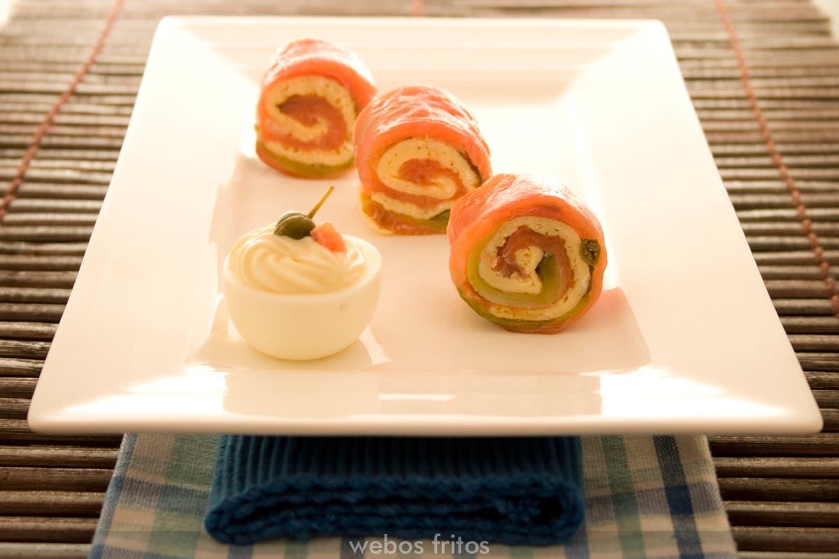Roll-on de salmón