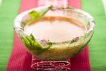 Cuenco de hielo con gazpacho