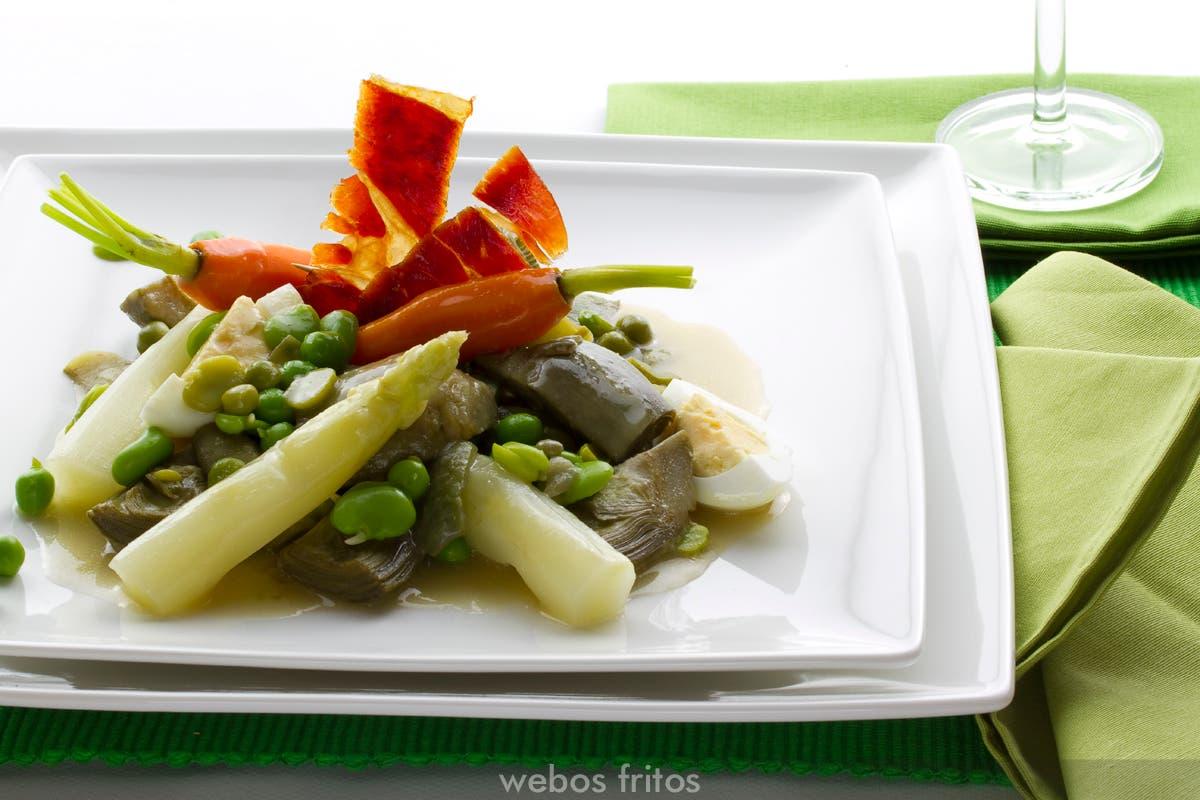 Menestra de verduras cl sica webos fritos - Como preparar menestra de verduras ...