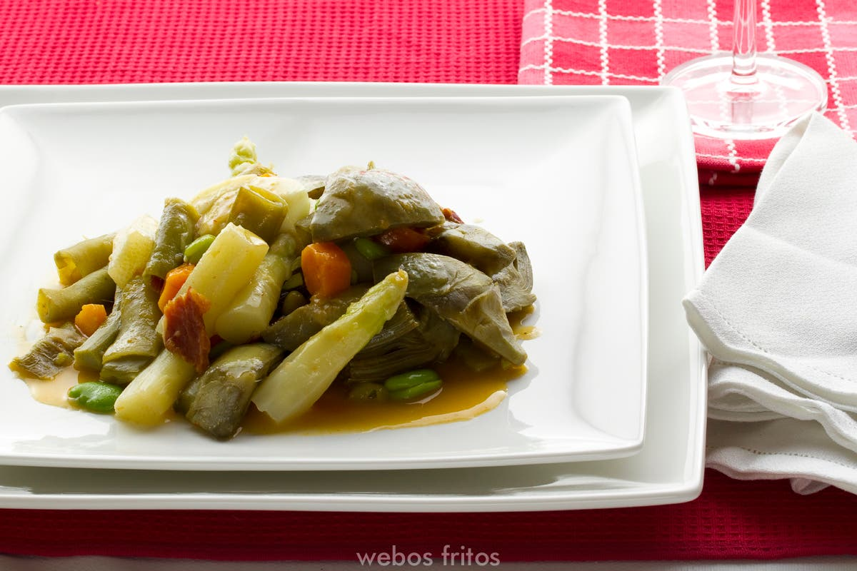 Menestra de verduras estofadas
