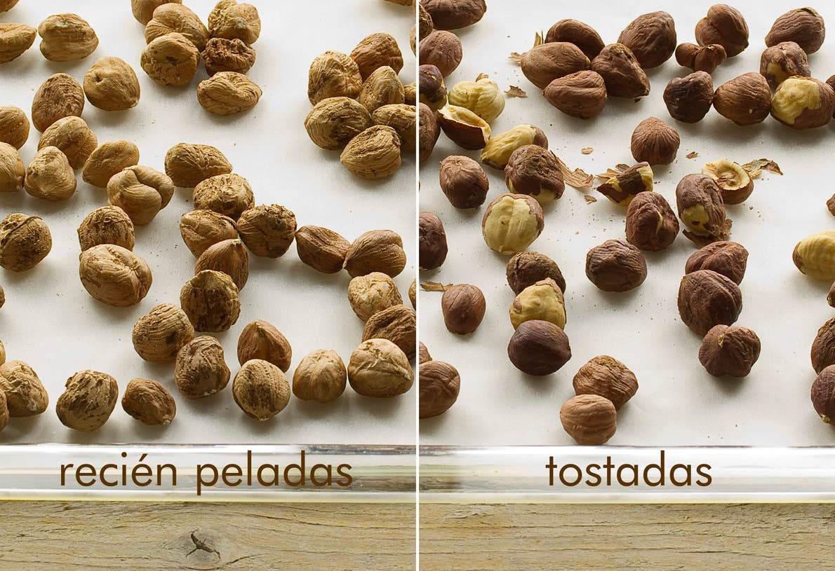 Avellanas antes y después