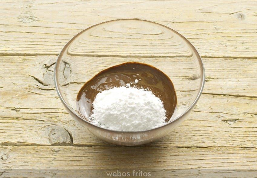 Crema de cacao y avellanas. Paso 2