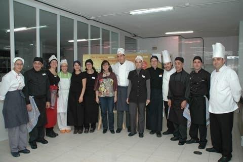 Foto de familia de los participantes en la final