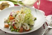 Ensalada de escarola y salmón ahumado