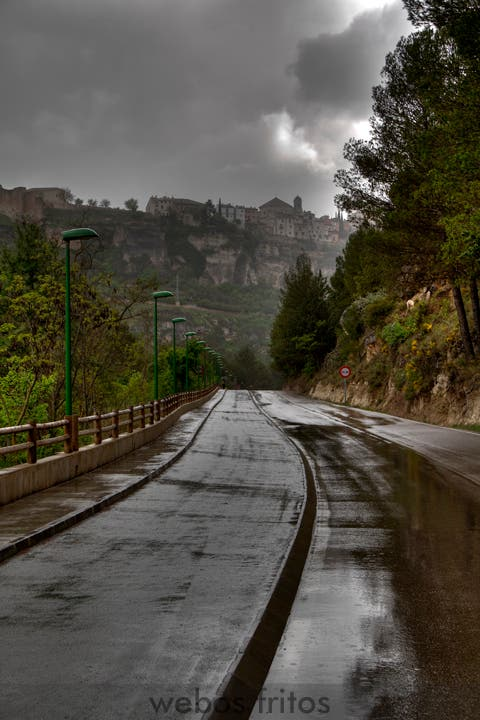 Cuenca. Carretera de la playa