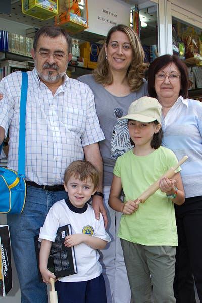 Con Pilar, Miguel, Silvia y Daniel