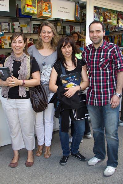 Con Yolanda, Mónica y Óscar