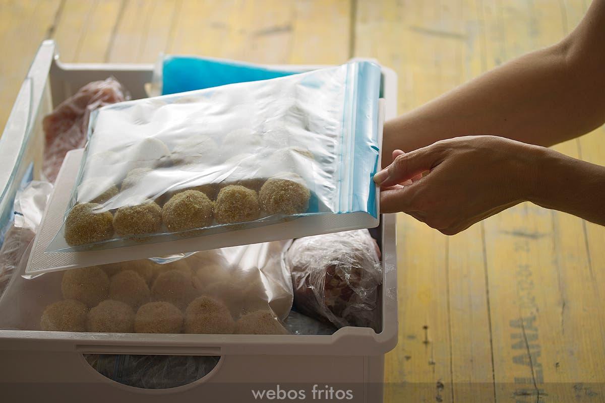 Cómo congelar las croquetas para que no pierdan la forma