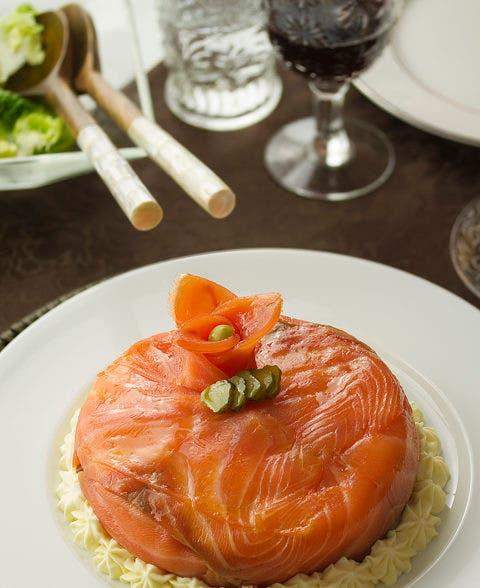 Tarta de merluza y salmón