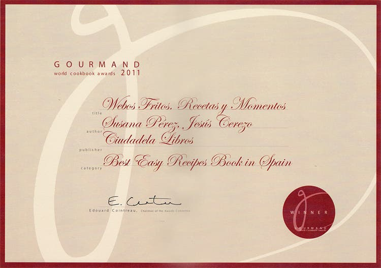 Gourmand Cookbook Awards 2012 Easy Recipes Spain