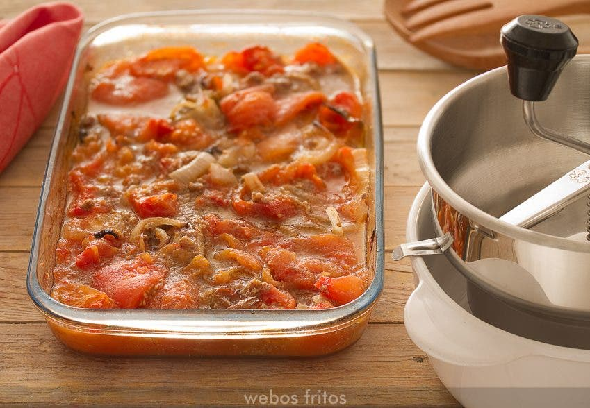 Ingredientes de la salsa una vez asados
