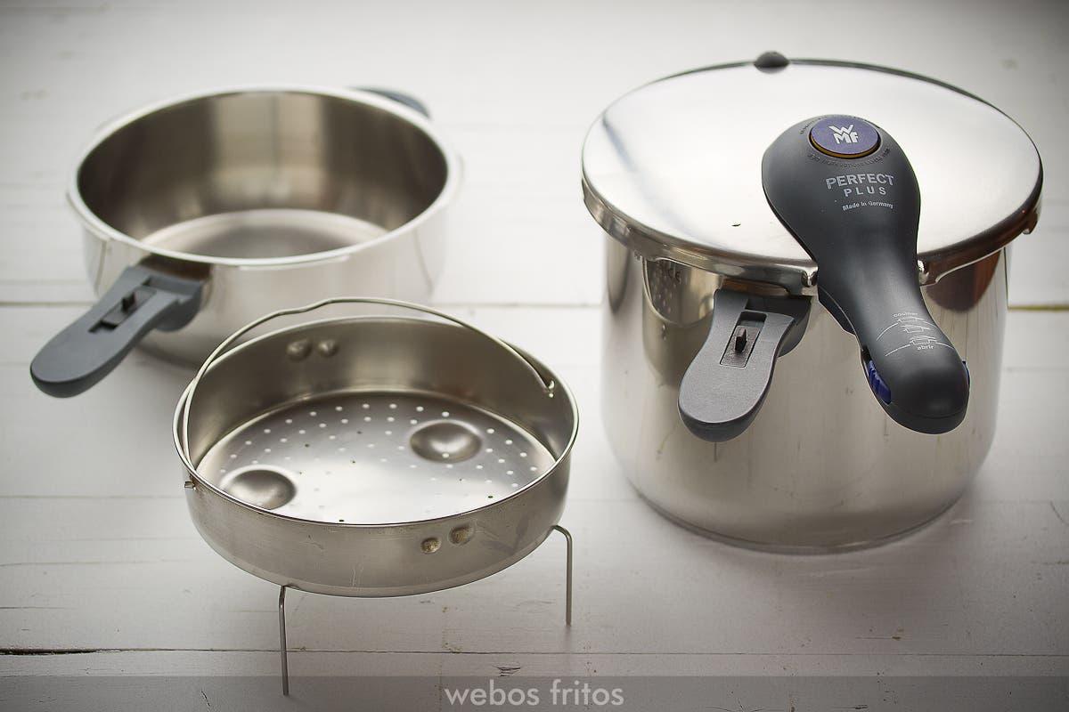 Olla r pida expr s webos fritos - Cocinar con olla express ...