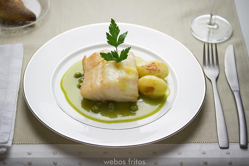 Bacalao confitado en salsa verde