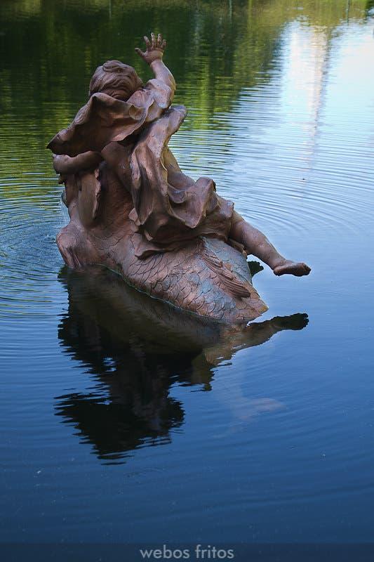 Fuente en los jardines de la Granja de San Ildefonso