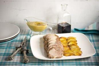 Lomo de cerdo con manzanas