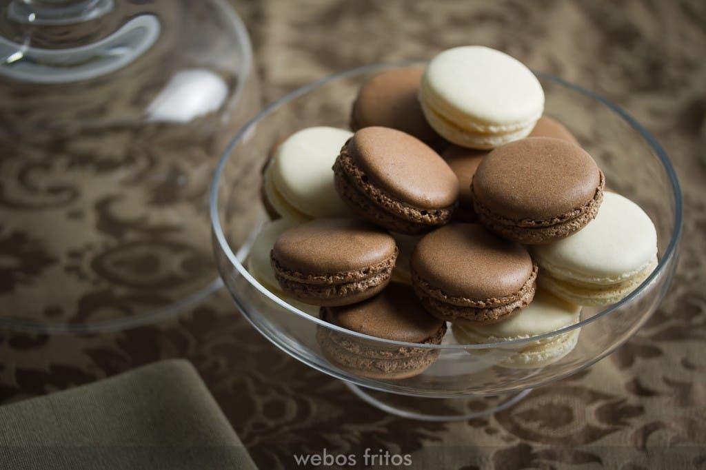 Macarons de chocolate y mandarina