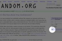 Random.org para la Beca Lecuine