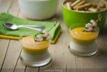 Crema fría de bonito, aguacate y melocotón