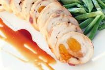 Rollitos de pollo con verduras