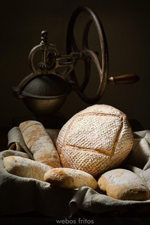 Pan hecho con banetones