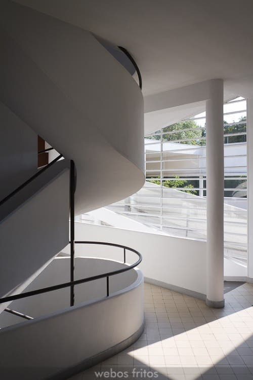 Rampa y escalera de la Ville Savoye