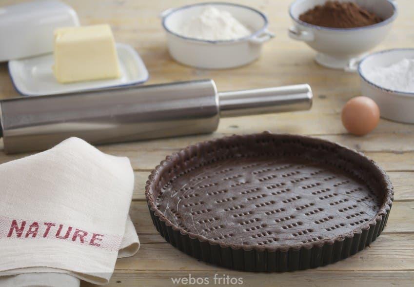 Masa de chocolate para tartas