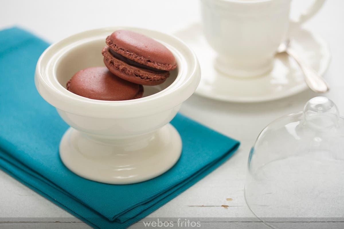 Macarons de chocolate y Nutella