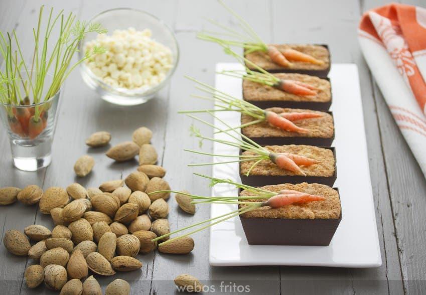 Bizcochitos de zanahoria y chocolate blanco