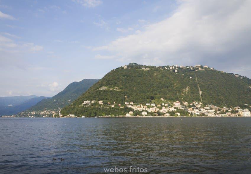 El lago de Como y Brunate