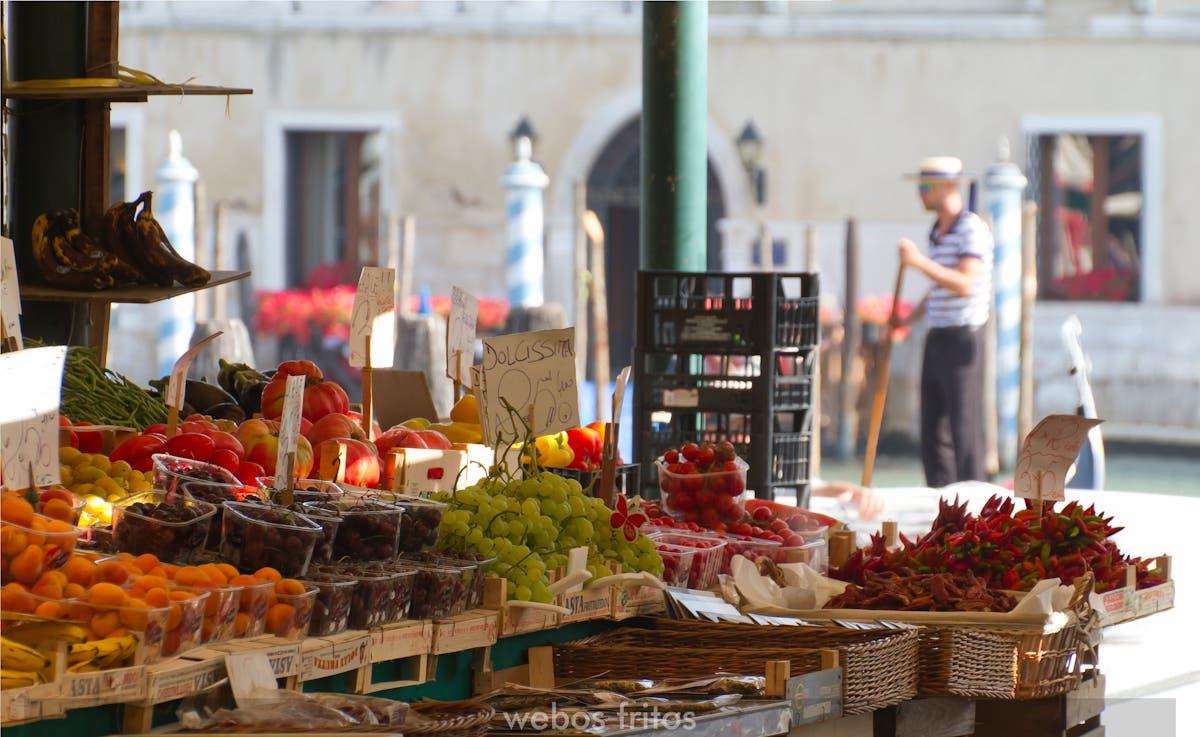 El mercado Rialto de Venecia