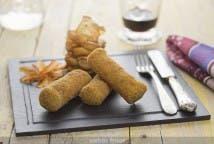 Rollitos de jamón York y queso