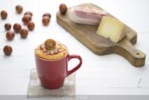 Mug cake de beicon y queso