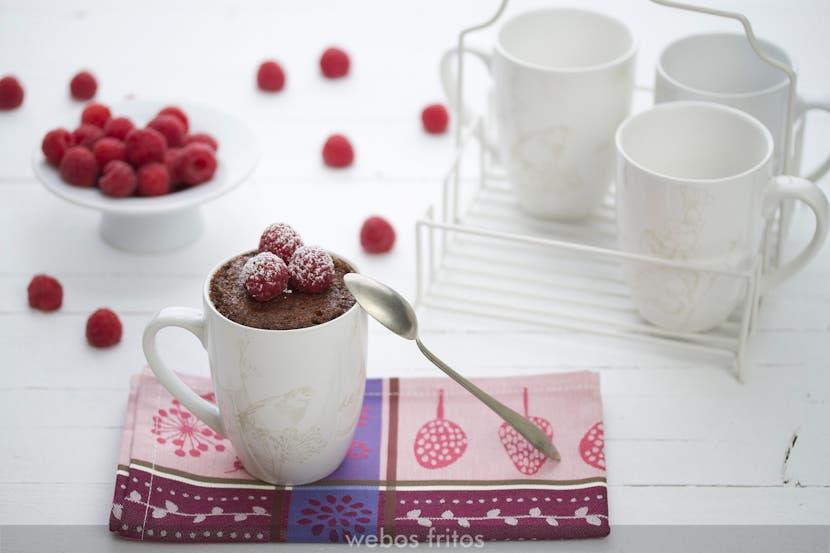 Mug cake sin gluten de chocolate