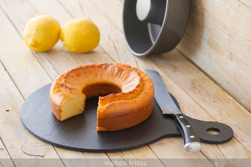 Bizcocho exprés de limón sin azúcar