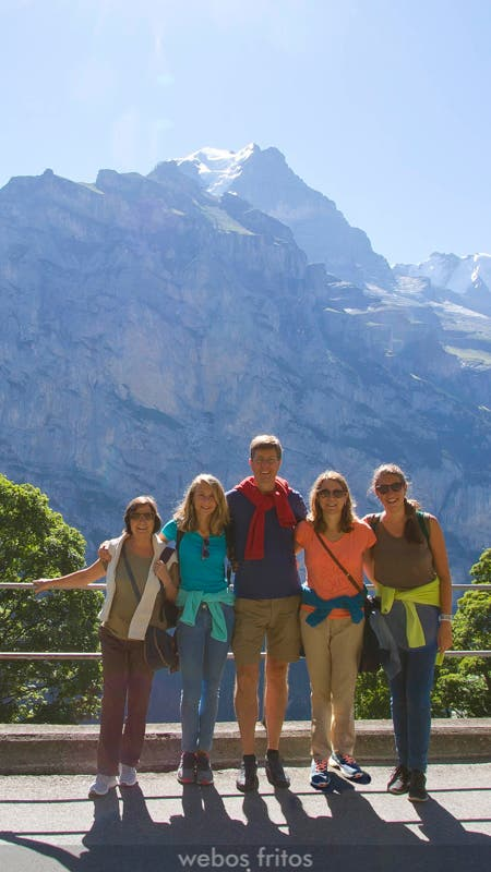 La family webos en Murren