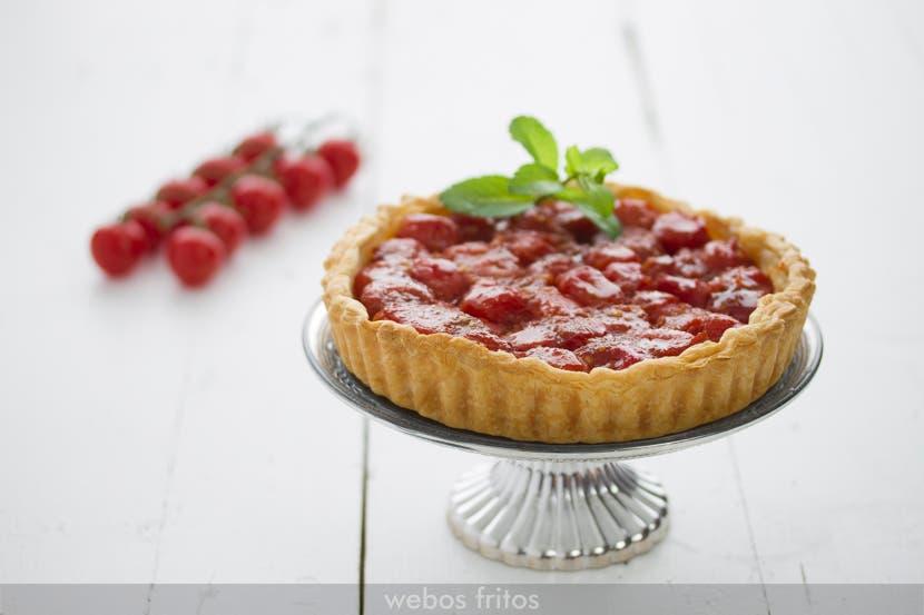 Tarta de tomates al horno