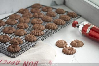 Galletas de chocolate con pistola