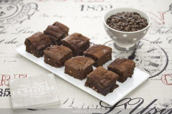 Brownie de chocolate y café
