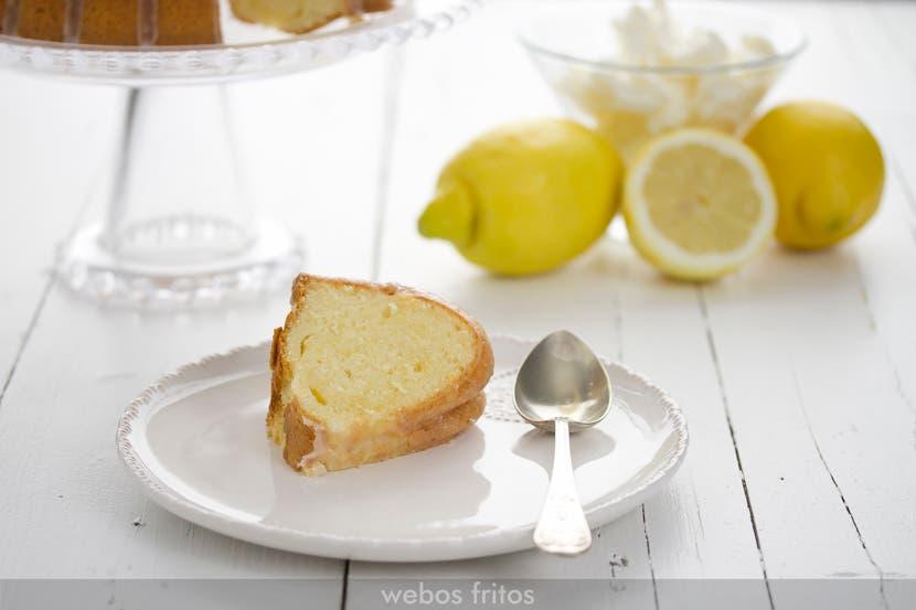 Bizcocho de queso y limón - Porción