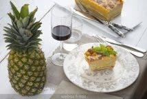 Croque cake hawaiano