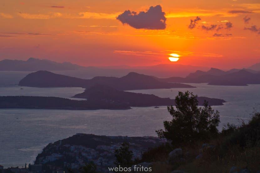 Anochece sobre Dubrovnik