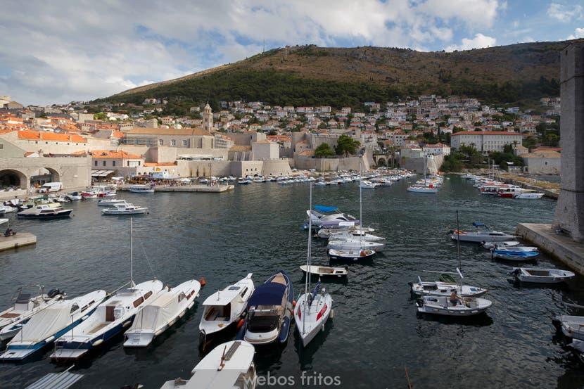 El puerto viejo de Dubrovnik