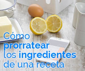 Calculadora para prorratear los ingredientes de una receta