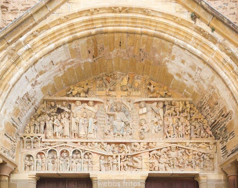 Conques. El tímpano de la abadía de Sainte Foy
