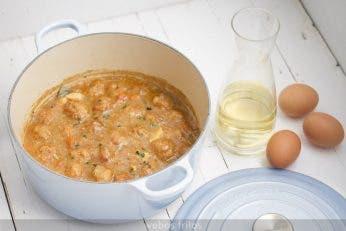 Albóndigas de pollo en salsa