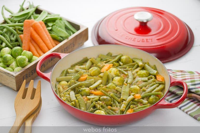 Cazuela de verduras estofadas