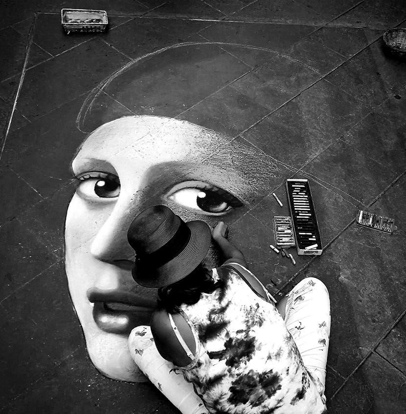 Artistas callejeros en Florencia