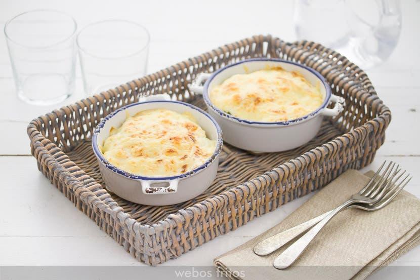 Gratinado de coles de bruselas y coliflor