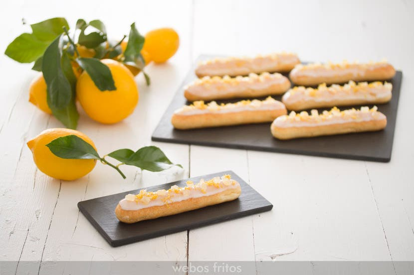 Éclairs de limón